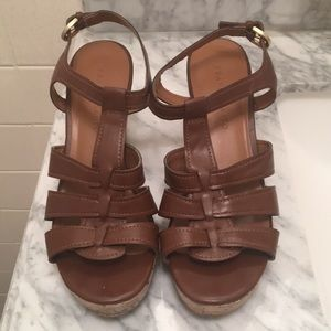 Franco Sarto Brown Sandal Wedges